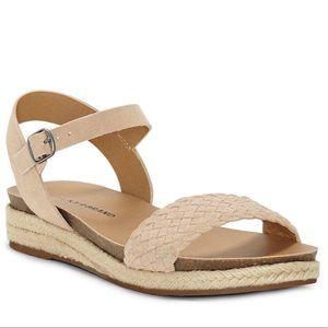 Women's Brown Genette Suede Espadrille Sandals-6.5
